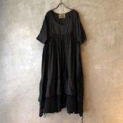 VINCENT JALBERT Parachute Dress L/S(ヴィンセント ジャルベール パラシュートドレス)Black