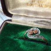 1920's Saphiret Antique Ring (1920年代 サフィレット アンティークリング)