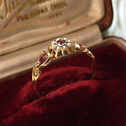 1861's Ruby Pearl Antique Ring (1861年 ルビー パール アンティークリング)