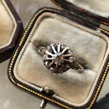 Victorian 9K Diamond Antique Ring (ヴィクトリアン 9K ダイヤモンド アンティークリング)