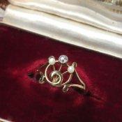 Edwardian Diamond Pearl Antique Ring (エドワーディアン ダイヤモンド パール アンティークリング)