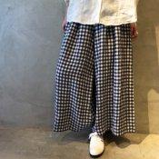 ikkuna/suzuki takayuki gathered pants(イクナ/スズキタカユキ  ギャザードパンツ)Checkered