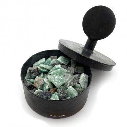 MAD et LEN Pot Pourri Totem Green ~emerald brut,green aventurine~(マドエレン ポプリ  グリーントーテム)