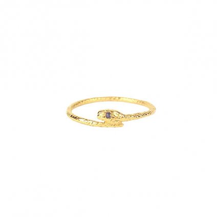 momocreatura Snake Ring Gold Sapphire(ヘビリング ゴールド サファイア)