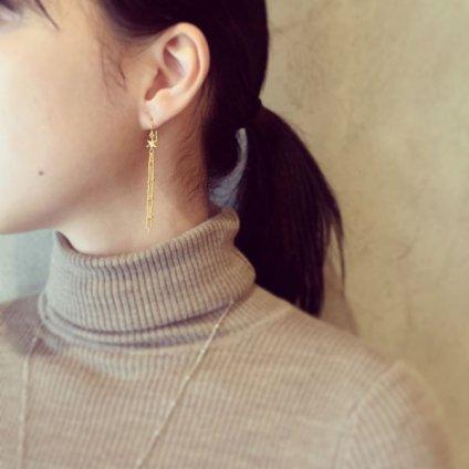 momocreatura Shooting Star Earrings Silver(流れ星ピアス シルバー)