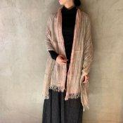 suzuki takayuki linen shawl(スズキタカユキ リネンショール)Pink