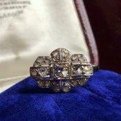 Art Deco 14K Diamond Antique Ring(アールデコ 14K ダイヤモンド アンティークリング)
