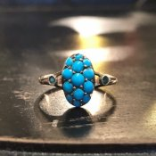 Victorian 9K Turquoise Antique Ring(ヴィクトリアン 9K ターコイズ リング)
