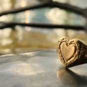Vintage 9K Heart Signet Ring(ヴィンテージ 9K ハート シグネットリング)