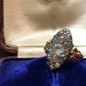 1920's Silver gilt Sapphiret Ring(1920年代 シルバー サフィレット リング)