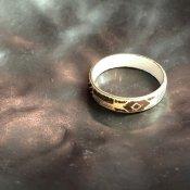 1950's Austrian Deadstock Enamel Ring White(1950年代 オーストリア エナメル リング 白)