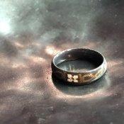 1950's Austrian Deadstock Enamel Ring Gray(1950年代 オーストリア エナメル リング グレー)