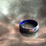 1950's Austrian Deadstock Enamel Ring Blue(1950年代 オーストリア エナメル リング 青)