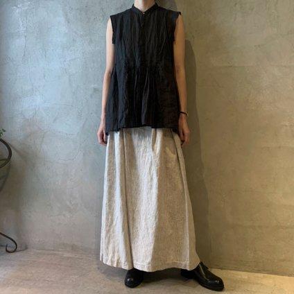 <img class='new_mark_img1' src='https://img.shop-pro.jp/img/new/icons13.gif' style='border:none;display:inline;margin:0px;padding:0px;width:auto;' />suzuki takayuki band-sleeve blouse(スズキタカユキ バンドスリーブブラウス)Black