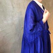 ikkuna/suzuki takayuki cache-coeur one-piece (イクナ/スズキタカユキ カシュクールワンピース)Ultramarine Blue