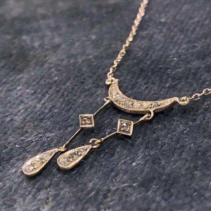 1910's 14K Diamond Neglige Necklace(1910年代 14K ダイヤモンド ネグリジェ ネックレス)