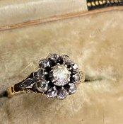 1950's Dutch Rose Cut Diamond Ring(1950's ダッチローズカット ダイヤモンド リング)