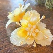 1960's Yellow Flower Earrings(1960年代  イエロー フラワー イヤリング)