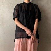 <img class='new_mark_img1' src='https://img.shop-pro.jp/img/new/icons56.gif' style='border:none;display:inline;margin:0px;padding:0px;width:auto;' />suzuki takayuki organdy shirt(スズキタカユキ オーガンジーシャツ)Black