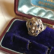 1920's WG Diamond Antique Ring(1920年代 ホワイトゴールド ダイヤモンド アンティーク リング)