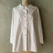 1930's Scallop Collar Cotton Blouse(1930年代 スカラップカラー コットンブラウス)