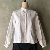 1910~20's Pin Tuck / Embroidery Cotton Blouse(1910〜20年代 ピンタック / 刺繍 コットンブラウス)