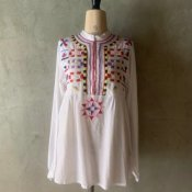 1980's Colorful Embroidery Blouse(1980年代 カラフル刺繍ブラウス)