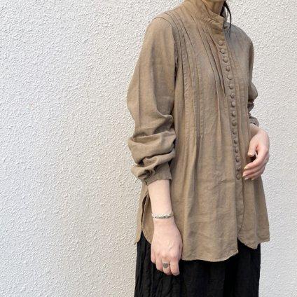 HALLELUJAH 6, Chemisier a plis d'epoque (ハレルヤ プリーツシャツ)Khaki