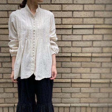 HALLELUJAH 6, Chemisier a plis d'epoque (ハレルヤ プリーツシャツ)Off white