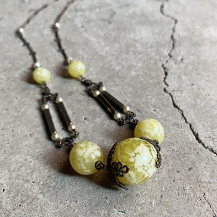1940's Louis Rousselet Glass Necklace(1940年代 ルイ ロスレー ガラスネックレス)