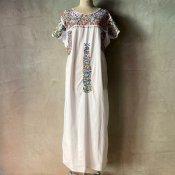 1970's Mexican Embroidery Dress(1970年代 メキシコ 刺繍ワンピース)