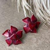 1960's Enamel leaf Earrings(1960年代  エナメル リーフイヤリング)