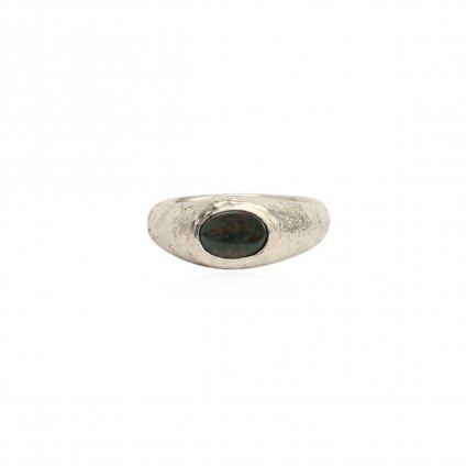 momocreatura Signet Ring Bloodstone Small(シグネットリング 燻しシルバー×ブラッドストーン スモール)