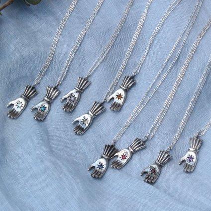 momocreatura Hand Necklace 9KYG×Diamond (ハンド ネックレス 9K金無垢×ダイヤモンド)