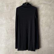 suzuki takayuki turtle-neck t-shirt (スズキタカユキ タートルネック Tシャツ)Black