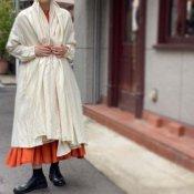 <img class='new_mark_img1' src='https://img.shop-pro.jp/img/new/icons20.gif' style='border:none;display:inline;margin:0px;padding:0px;width:auto;' />【20%OFF】ikkuna/suzuki takayuki robe coat(イクナスズキタカユキ ローブーコート)Nude