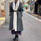 <img class='new_mark_img1' src='https://img.shop-pro.jp/img/new/icons20.gif' style='border:none;display:inline;margin:0px;padding:0px;width:auto;' />【20%OFF】ikkuna/suzuki takayuki robe coat(イクナスズキタカユキ ローブーコート)Charcoal Gray