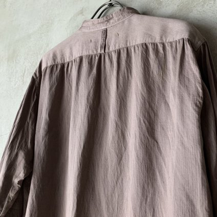 suzuki takayuki dickey-front shirt(スズキタカユキ ディッキーフロントシャツ)Grey/Unisex