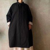 suzuki takayuki stand-fall-collar coat �(スズキタカユキ スタンドフォールカラーコート�)Black/Unisex