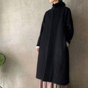 suzuki takayuki stand-fall-collar coat�(スズキタカユキ スタンドフォールカラーコート�)Black