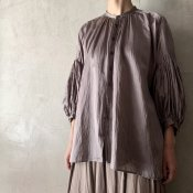 suzuki takayuki puff-sleeve blouse(スズキタカユキ パフスリーブブラウス)Grey