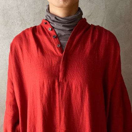<img class='new_mark_img1' src='https://img.shop-pro.jp/img/new/icons13.gif' style='border:none;display:inline;margin:0px;padding:0px;width:auto;' />【限定カラー】suzuki takayuki peasant dress(スズキタカユキ ペザントドレス)Vermilion