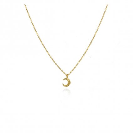 momocreatura Micro  Crescent Moon Necklace 9KYG(マイクロ 三日月 ネックレス 9K金無垢)