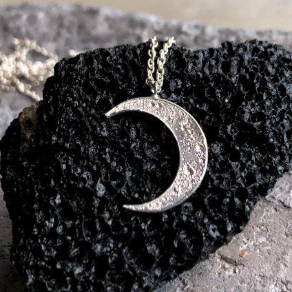 momocreatura Crescent Moon Necklace(三日月 ネックレス シルバー)