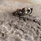 momocreatura Star Child Ring Silver×9KYG×Ruby(スターチャイルドリング シルバー×9K金無垢×ルビー)