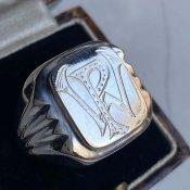 1930's Silver Monogram Signet Ring