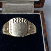 c.1966-67 9KYG Signet Ring Chevron Stripe(1966〜67年 9KYG シグネット リング シェブロンストライプ)