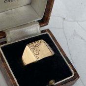 c.1983 9KYG Signet Ring Arabesque(1983年 9KYG シグネット リング アラベスク)