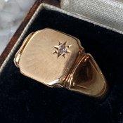 c.1977 9KYG Signet Ring Diamond(1977年 9KYG シグネットリング ダイヤモンド)