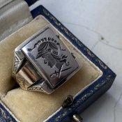 c.1930〜40 Silver Intaglio Ring(シルバー インタリオリング)騎士